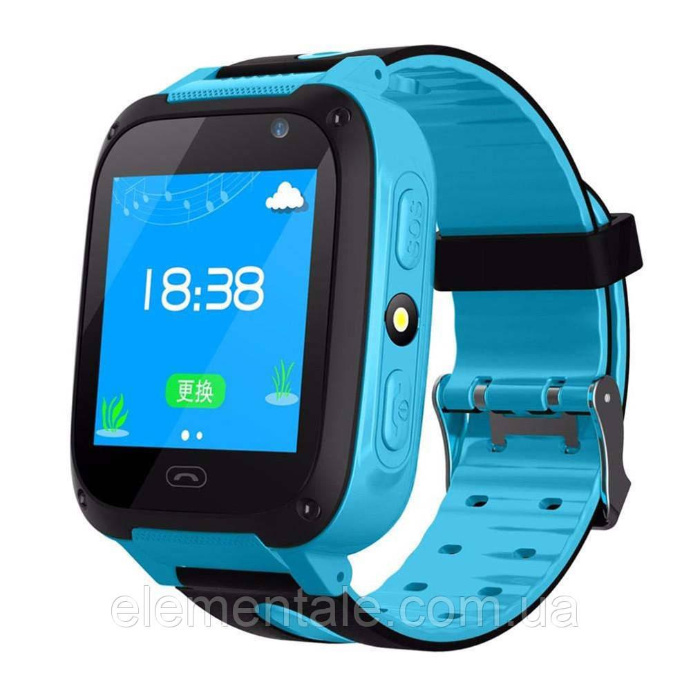 Детские смарт-часы UWatch F2 с GPS Blue