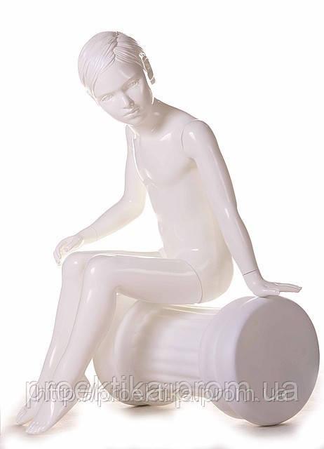 Манекен детский 61 KFS/002 (белый глянец)