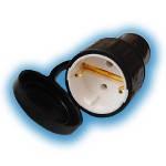 Розетка переносная с заземляющим контактом брызгозащищенная Р16-361 IP44 (каучук)