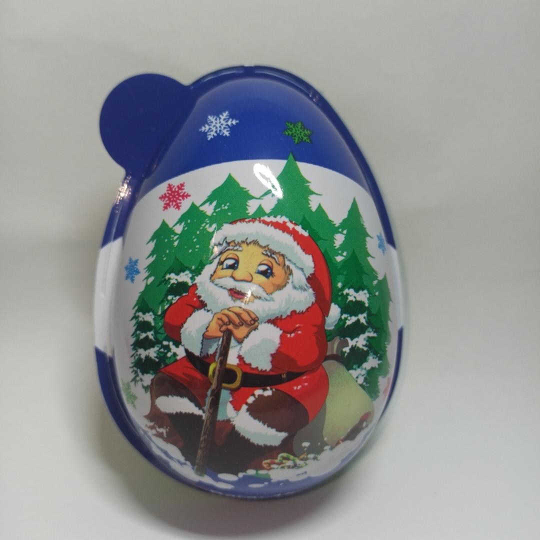Новогоднее Пластиковое яйцо с игрушкой