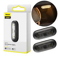 Светодиодная лампа в салон автомобиля Baseus Capsule Car Interior Lights (2шт/уп) Black (DGXW-01), фото 1