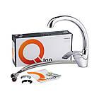 Однорычажный латунный смеситель для кухни цвет хром Q-tap Mars СRM 007, фото 4