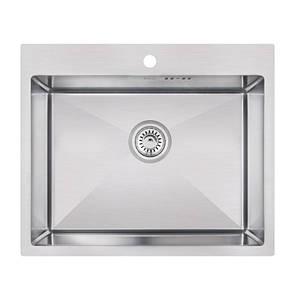 Мойка для кухни из нержавеющей стали врезная цвет матовый Imperial D6050 Handmade 3.0/1.2 mm
