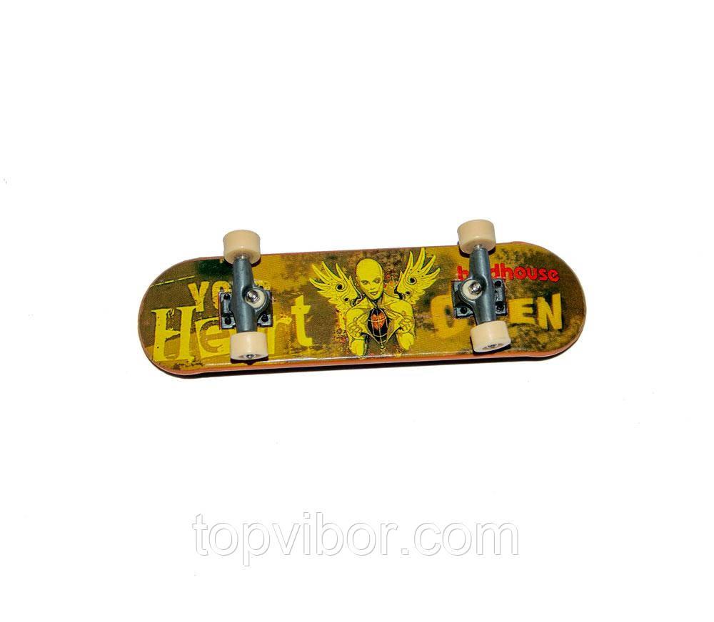 "Маленький скейт Tech Deck 96mm ""Ангел с сердцем"", фингерборд для пальцев   маленький скейтборд"