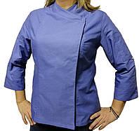 Китель поварской женский голубой 100% хлопок Atteks - 00896