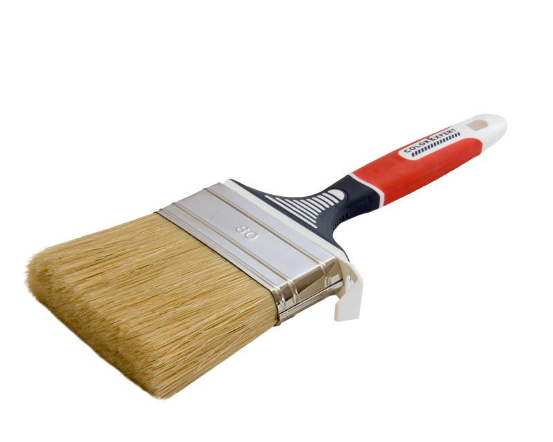Кисть флейцевая COLOR EXPERT 81508102, 80мм*18мм щетина 63мм ручка 3К эрго, для водных красок для стен
