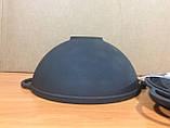 Чугунная кастрюля вок 3,5л с чугунной крышкой сковородкой, фото 4