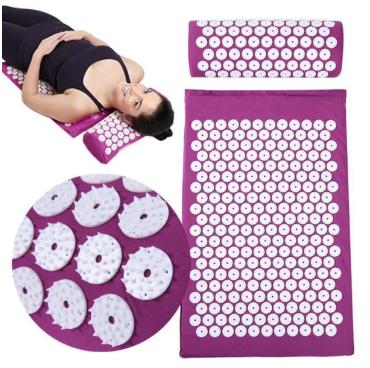 Коврик ортопедический массажный  Acupressure mat Фиолетовый цвет (без валика)