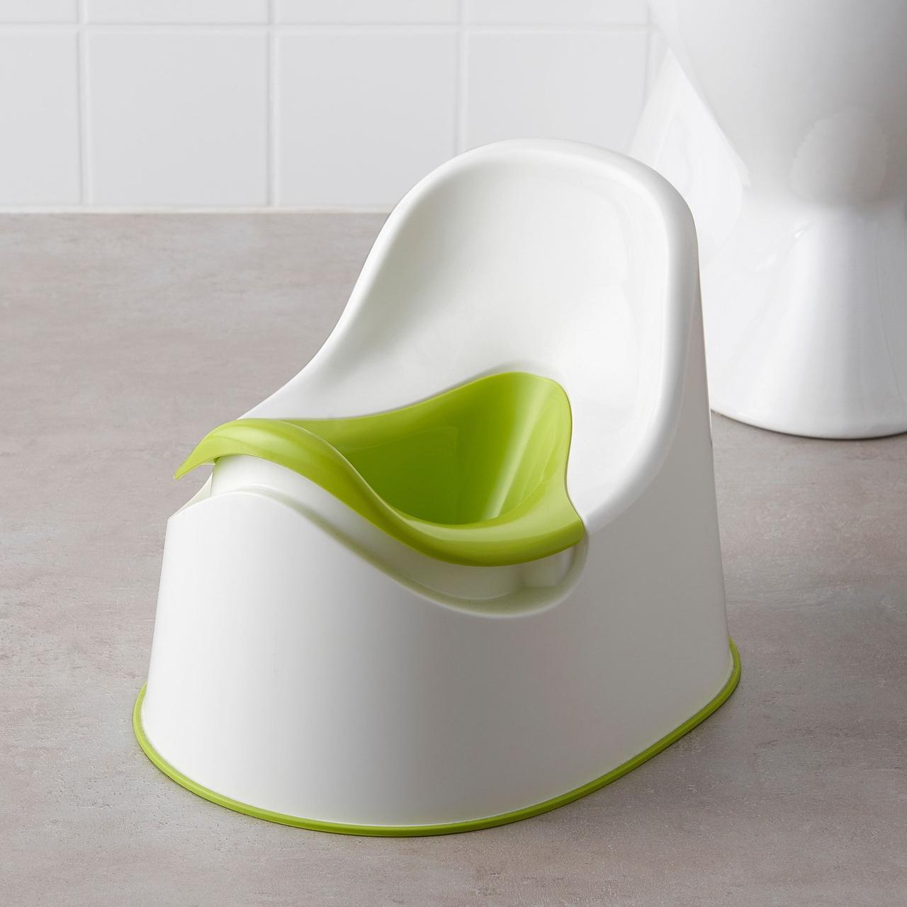 Горшок детский IKEA LOCKIG зеленый белый 601.931.28