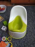 Горщик дитячий IKEA LOCKIG зелений білий 601.931.28, фото 10