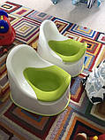 Горщик дитячий IKEA LOCKIG зелений білий 601.931.28, фото 8