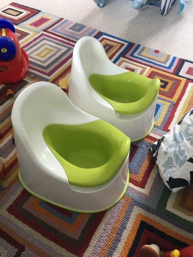 Горщик дитячий IKEA LOCKIG зелений білий 601.931.28