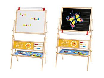 Дитячий мольберт,двостороння магнітна дошка 3 в 1для малювання крейдою і маркерамиPlayTive