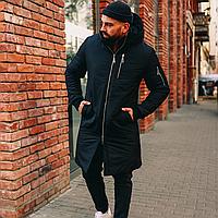 Стильная Мужская удлиненная парка! Зимняя Куртка, парка, пальто, пуховик! Высокое качество!