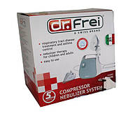 Ингалятор (небулайзер) Dr.Frei Turbo Mini компрессорный гарантия 5 лет
