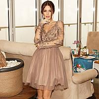 Женское нарядное платье с пышной юбкой из фатина, фото 1