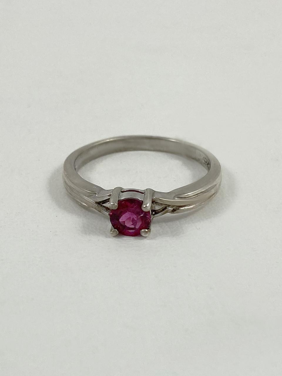 Кольцо серебряное с турмалином