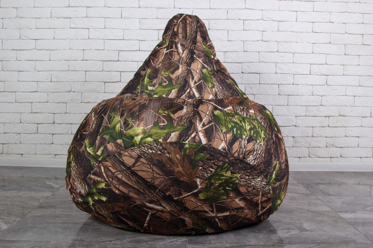 Кресло мешок груша Камуфляжного цвета пуф XL