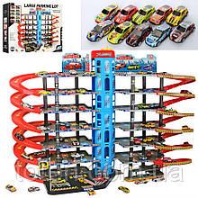 Игровой Гараж Большой 89 см, 7 этажей, машинка 8 шт, 7 см, заправка 92822