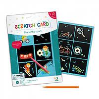 """Гравюра мини DoDo """"Угадай вид спорта"""" 300332, наборы для творчества,гравюра,детские наборы творчества,гравюра"""