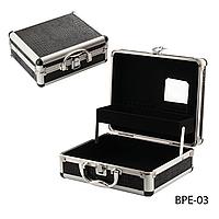 Кейс для мастера по наращиванию ресниц, мастера маникюра, парикмахера или косметолога - Чёрный  BPE-03