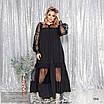 Платье вечернее длинное красивое стрейч шёлк 50,52,54, фото 2