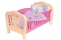 Кроватка для куклы 4494TXK (Розовая), кроватка для кукол,игрушки для девочек,мебель для куклы,игрушечная