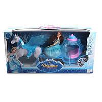 Карета 686-770/1 (Blue), Карета для детей,Набор литл пони,Карета с лошадью,Лошадка