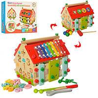 Деревянная игрушка Центр развивающий MD 2087, деревянные игры,деревянные игрушки,кубики,деревянный конструктор