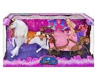 Карета 207A с лошадью, с куклой, Карета для детей,Набор литл пони,Карета с лошадью