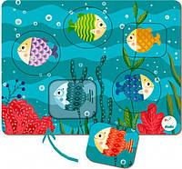 """Пазл-сортер DoDo """"Рыбки"""" 300287, игрушки для малышей,сотер,деревянные игрушки,самых маленьких"""
