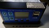 30А - 30А 12/24В Контроллер заряда солнечных батарей (модулей) ШИМ (PWM) с Дисплеем + 2USB Контролер заряду, фото 3