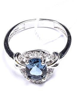 "Кольцо серебряное с топазом ""London Blue"""