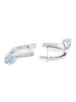 Сережки срібні з топазом