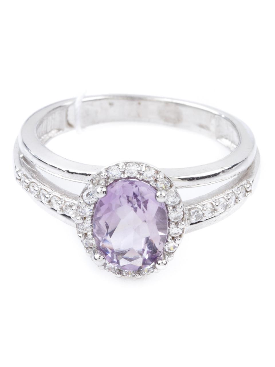 Кольцо серебряное с аметистом