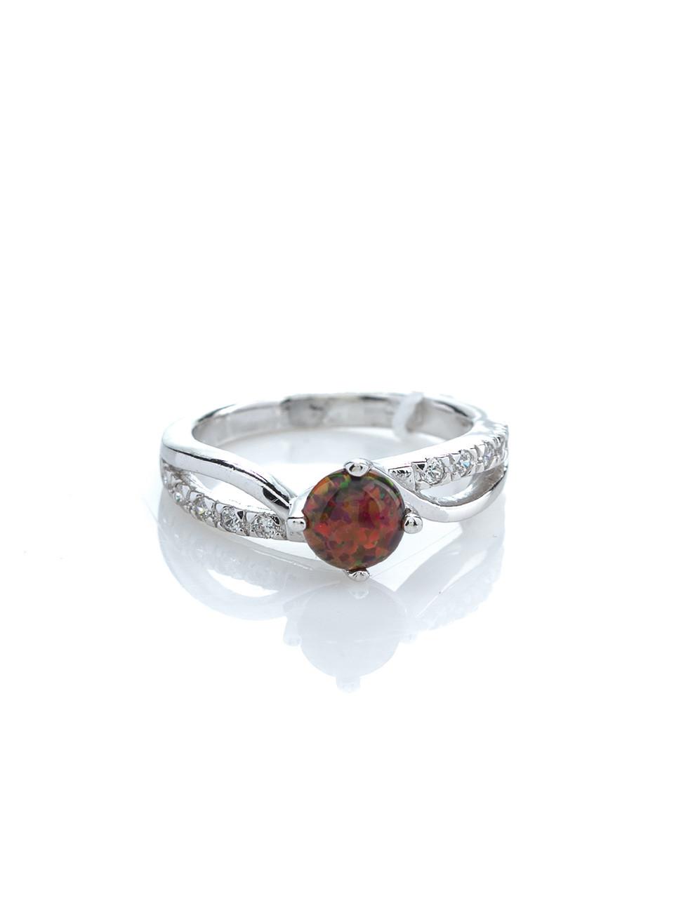 Кольцо серебряное с опалом
