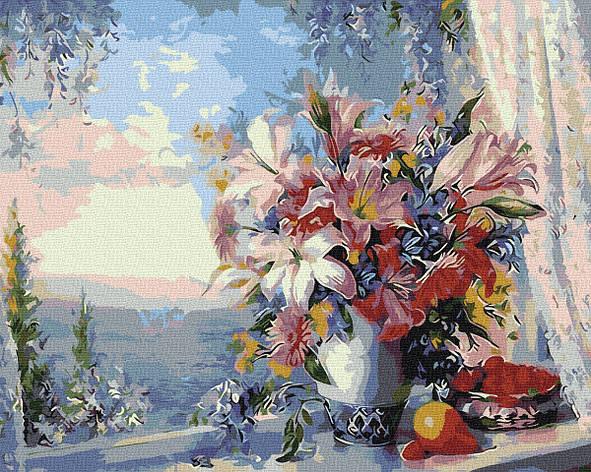 Картина по номерам GX4562 Лилии на окне 40х50см. Rainbow, фото 2