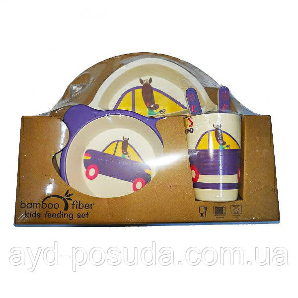 """Набір дитячого посуду з бамбука """"Машинка"""" арт. 870-24388"""
