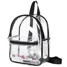 Женский прозрачный рюкзак Морской черный