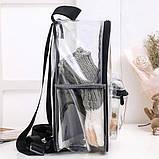 Женский прозрачный рюкзак Морской черный, фото 2