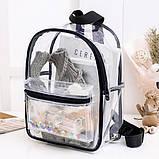 Женский прозрачный рюкзак Морской черный, фото 3