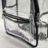 Женский прозрачный рюкзак Морской черный, фото 6