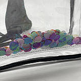 Женский прозрачный рюкзак Морской черный, фото 9
