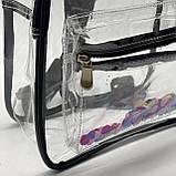 Женский прозрачный рюкзак Морской черный, фото 8