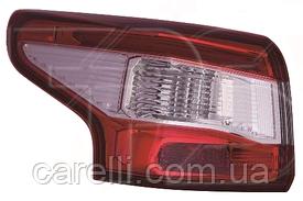 Фонарь задний левый внешний PY21W + LED для Nissan Qashqai 2014-17