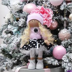 Мягкие игрушки ручной работы ❤ Текстильная кукла Анжела