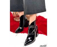 Ботильйони туфлі на стійкому квадратному каблуці, фото 1