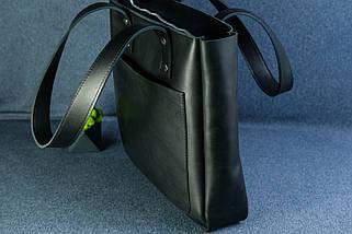 Шоппер повсякденний Вінтажна шкіра колір Чорний, фото 3