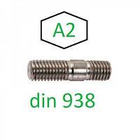Шпилька М14 з ввинчиваемым кінцем довжиною 1d DIN 938, нержавіюча, фото 1