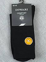 Мужские носки с махровой стопой зимние классические черные CLASSIC DIWARI набор 4 пары 6С-18СП